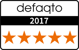 Defaqto 2017 - 5 Star Rated
